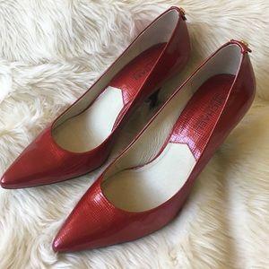 Michael Kors Shiny Red Pumps Size 8